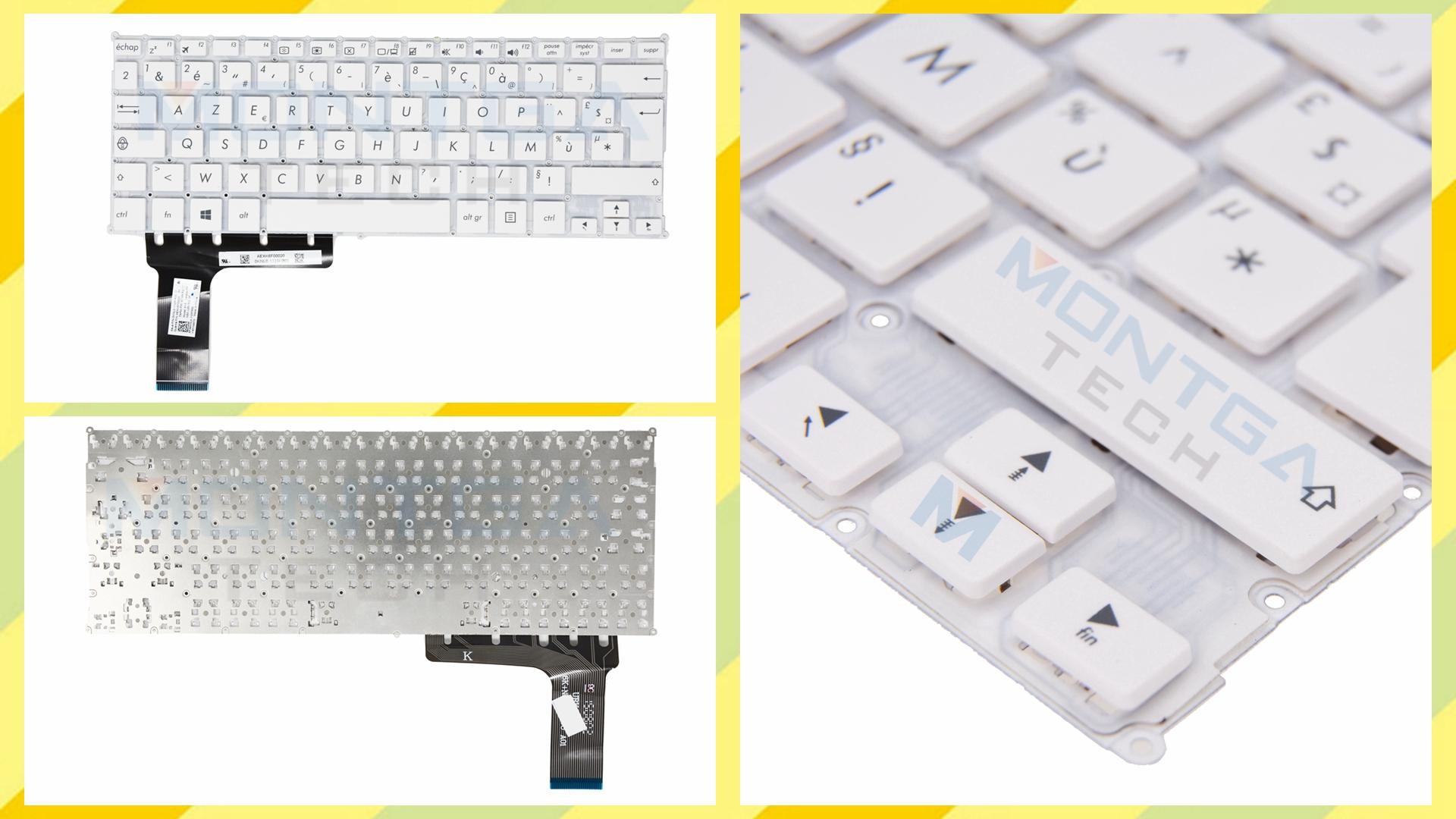 Keyboard Asus, Asus E202SA Keyboard, Asus E202SA Keyboard AZERTY Français, Asus E202SA Blanc Keyboard, Asus 0KNL0-1123FR00 AEXK6F00020, 0KNL0-1123FR00 AEXK6F00020,